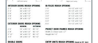 Exterior Door Sizes Chart Door Measurement Exterior Door