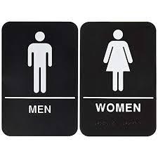Image Toilet Bundle Items Men And Women Restroom Sign Blackwhite Ada Amazoncom Womens Bathroom Signs Amazoncom