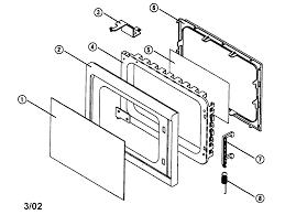 Emerson microwave repair parts