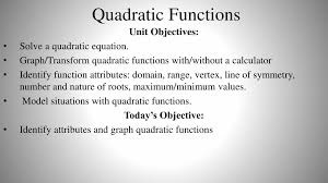 quadratic functions n