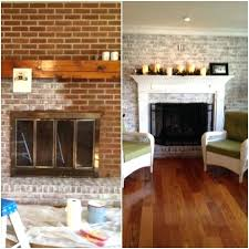 brick fireplace with stone accents white washed best fireplaces images on makeovers remodel update brick fireplace