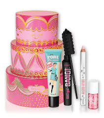triple decker decadence includes primer mascara lip and cheek tint and a brow