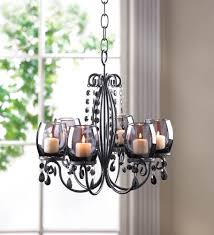 hanging chandelier candle decorative black chandeliers candle holders iron