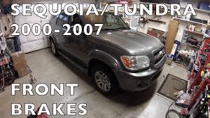 Replace Front Brakes Sequoia Tundra 2000-2007 Toyota - YouTube