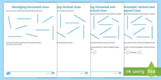 Identifying Horizontal And Vertical Lines Worksheet