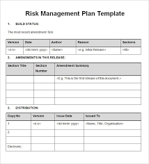 Document Template Word 13 Risk Management Plan Templates Word Excel Pdf