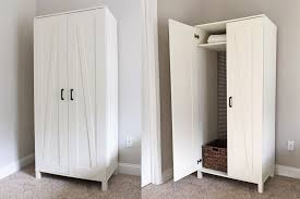 Wardrobe furniture ikea Ikea Brimnes The Spruce 21 Best Ikea Storage Hacks For Small Bedrooms