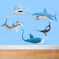 Shark Large WALL DECALS Boyu0027s Bedroom Baby Nursery Art Decor. $75.00, Via  Etsy.