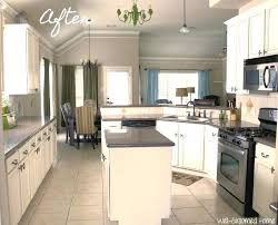 pictures of painted kitchen cabinets image chalk paint how durable before and after you ca
