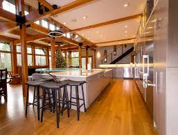 Oak Floors In Kitchen Light Colored Oak Wide Board Floors Kitchen With Red Oak And