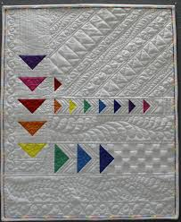 Free motion quilting feathers Archives - The Quilt Journal & a picture of a Beautiful Modern Quilt using free motion quilting and ruler  work by Brenda Adamdwight.com
