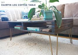 DIY hairpin leg coffee table tutorial. And, it has storage!