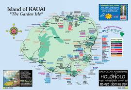kauai island hawaii tourist map  kauai hawaii • mappery