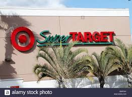 super target in west palm beach fl usa stock image