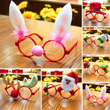 Christmas Photo Frames For Kids Details About Funny Christmas Ornaments Glasses Frames Evening Party Toy Kids Xmas Gifts Decor