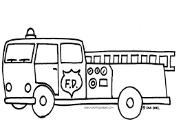 Small Picture Coloring Page Fire Truck Kids Coloring Pictures Download