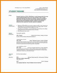 Resume Examples For College Impressive Job Resume College Student Musiccityspiritsandcocktail
