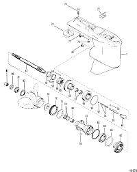 Description mercury mariner v 150 0c100861 thru 0c239552 gear housing propeller shaft standard rotation mercury outboard wiring diagrams