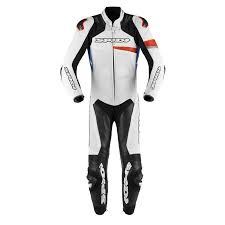 spidi race warrior perforated leather suit red blue zoom