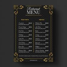 Restaurant Menu Template Restaurant Menu Png Vector Psd And Clipart With