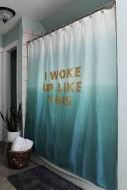 diy shower curtain ideas. Exellent Diy I Woke Up Like This Shower Curtain Tutorial And Diy Ideas