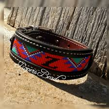 custom beaded dog collar small