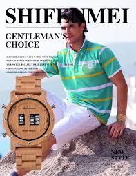 <b>Shifenmei Wood</b> Watches <b>Men</b> Digital Quartz Watch Roller Top ...