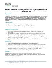 Chart Deficiency Tracking 2 Neehr Perfect Ehr Activity Cprs Analyzing For Chart