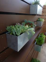 Galvanized Metal Hanging Planter Box/ Horizontal Fence Planter/ Succulent  Wall/ Herbs/ Modern/ MCM/ Urban Garden/ City Garden/ Patio/ Plants