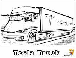 Present cars differ from the ancestors in the bigger power and high efficiency. Big Rig Truck Coloring Pages Free 18 Wheeler Boys Coloring Pages