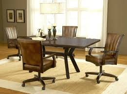 rolling dining room chairs rolling dining room chairs dining room table chairs casters