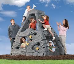 plastic outdoor climbing structure kids step summit climbing wall
