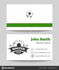 Soccer Business Card Soccer Club Business Card Green Stock Vector Microone