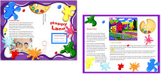 brochure daycare brochure template daycare brochure template picture medium size