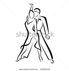 stock vector dancing couple outlined vector sketch 223019143 dance studio flyer template free,studio free download card designs on free templates for professional flyers