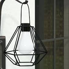 led hanging lantern diamond shaped solar powered 1 light outdoor led hanging lantern outdoor led solar