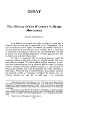 history of the women s suffrage movement the essay vanderbilt  what is heinonline