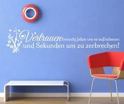 Wandtattoo Spruch Vertrauen Wand Deko Wandsticker Zitate Zitat