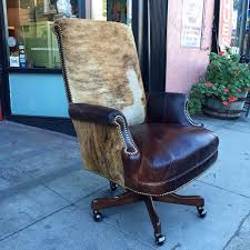 Custom made office chairs Ergonomic Custom Made Executive Desk Chair Made Of Leather And Cowhide Casa Victoria Vintage Furniture Los Angeles Sold Stone Age Custom Made Executive Desk Chair Made Of Leather