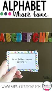 Letter Practicing Alphabet Whack Practicing Letters Game Sara J Creations