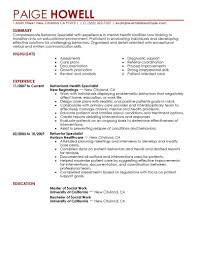 Referral Specialist Resume Example Templates Best Behavior