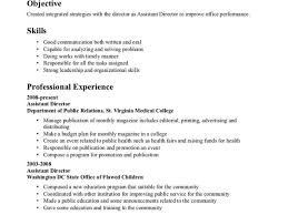 Public Health Resume Sample Classy Public Health Resume Objective with Resume Samples 51