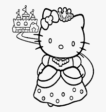 Just print them out for your next disney party! Hello Kitty And A Nice Castle Coloring Page Free Printable Barbie Princess Coloring Pages Hd Png Download Transparent Png Image Pngitem