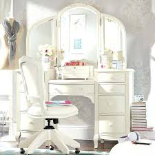 White Bedroom Vanity With Lights Desk And In One Makeup Storage ...