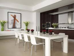 dining table interior design kitchen: mesmerizing kitchen and dining room designs magnificent kitchen and dining room ideas with white dining table and chairs vase of flowers also pictures