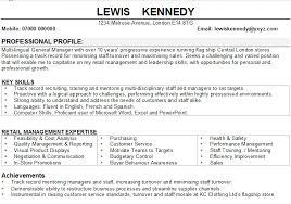Retail Manager Cv Sample