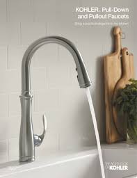 Kohler Brass Kitchen Faucet Kitchen Staggering Kohler Kitchen Faucets Pertaining To Pull Out