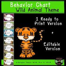 Classroom Behavior Chart Ideas Wild Animal Jungle Classroom Behavior Chart Editable