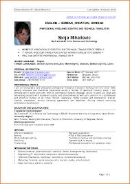 34 Formal Resume Template 6 Formal Cv Format Sample Financial