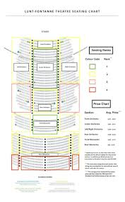 Buell Theater Seating Chart 24 Exhaustive Lunt Fontanne Theatre Seats